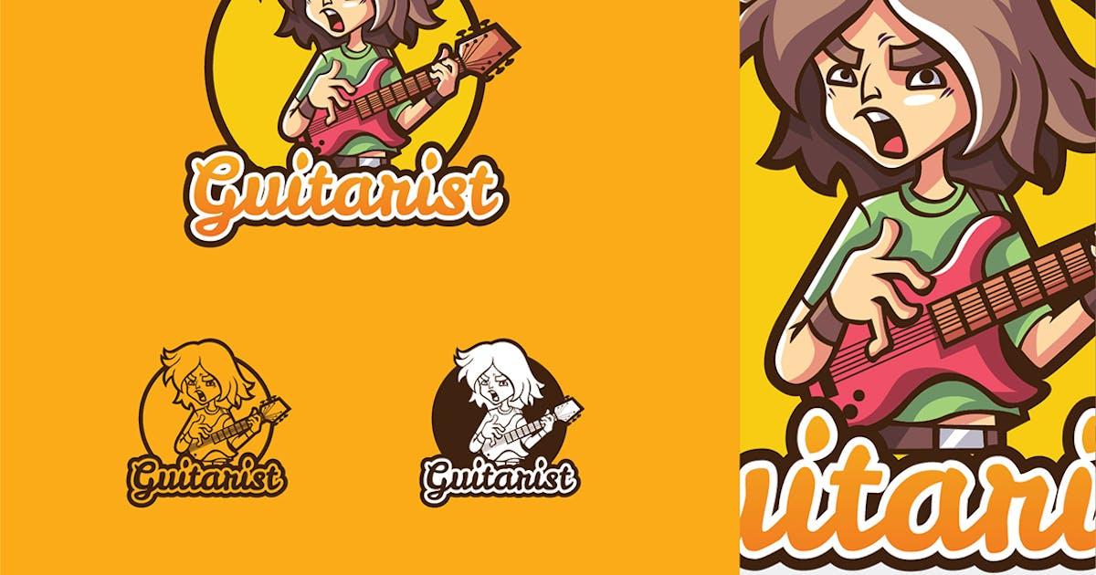 Download Guitarist - Mascot & Esport Logo by aqrstudio