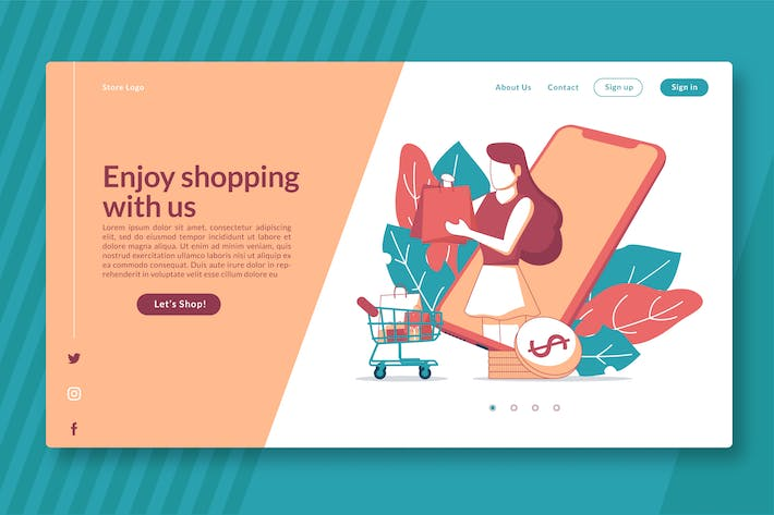 Thumbnail for Ecommerce Business Set - Landing Page GR