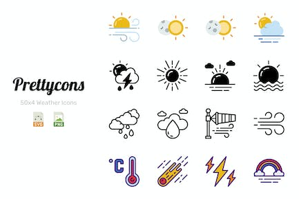 Prettycons - 200 Wetter Icons Vol.1