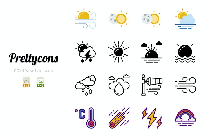 Thumbnail for Prettycons - 200 Weather Icons Vol.1