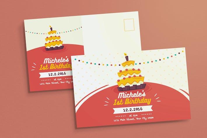 Thumbnail for Colorful Birthday Invitation
