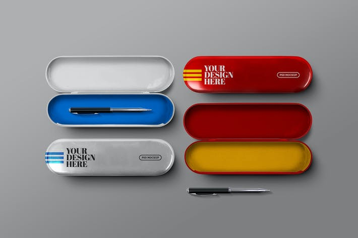 Thumbnail for Metal Pencil Case Mockup