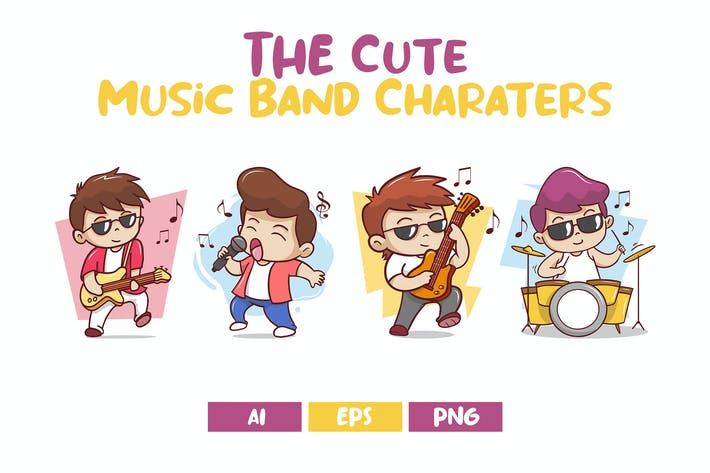 The Cute Music Band Characters