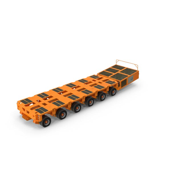 6 Axle Lines Modular Transporter Goldhofer Orange Pose