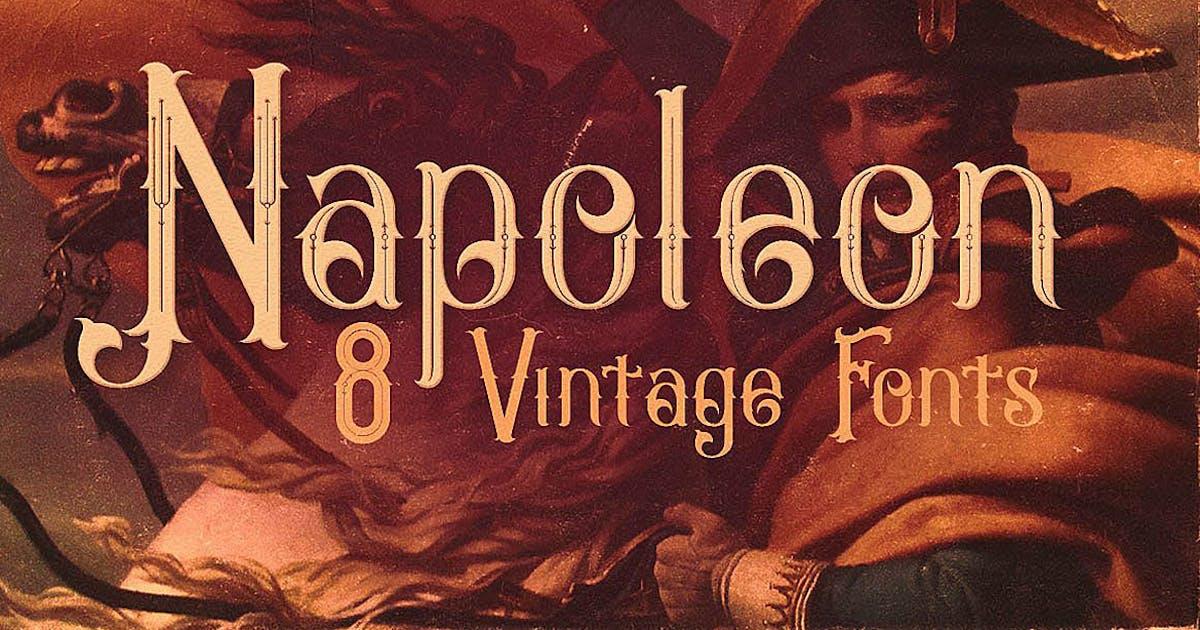 Download Napoleon Vintage Typeface by cruzine