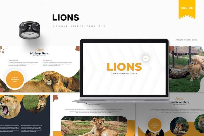 Львы | Шаблон слайдов Google