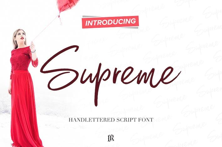 Thumbnail for Supreme Script Font