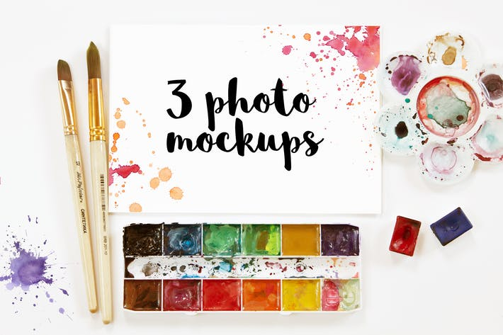 Cover Image For Watercolor Art Photo Mockup