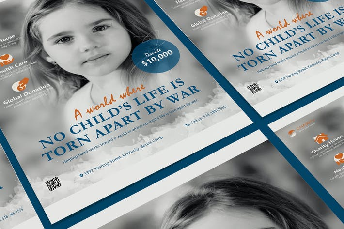 Thumbnail for Charity, NGO, Non-Profit Poster PSD Template