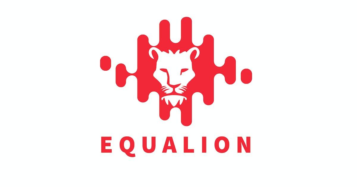 Download Equalion - Audio Equalizer Wave & Lion Logo by Suhandi