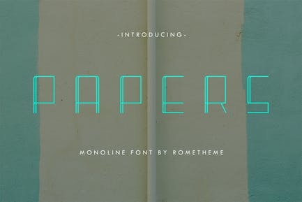 Papers - Monoline Display Font DR