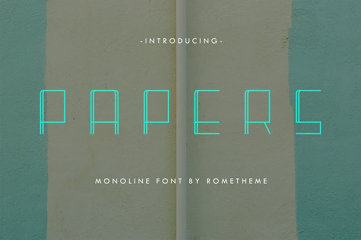 Thumbnail for Papers - Monoline Display Font DR