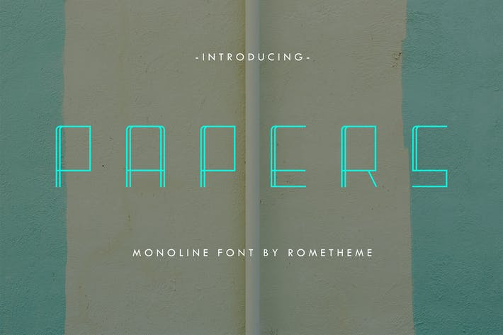 Papeles - Monoline Display Font DR