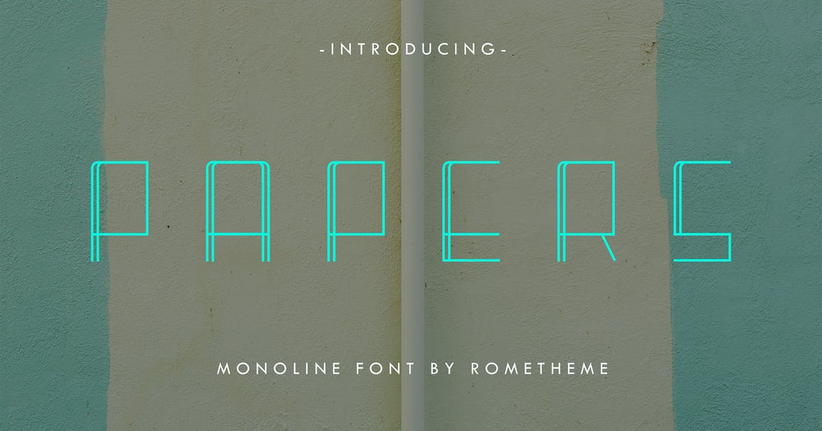 Download Papers - Monoline Display Font DR by Rometheme