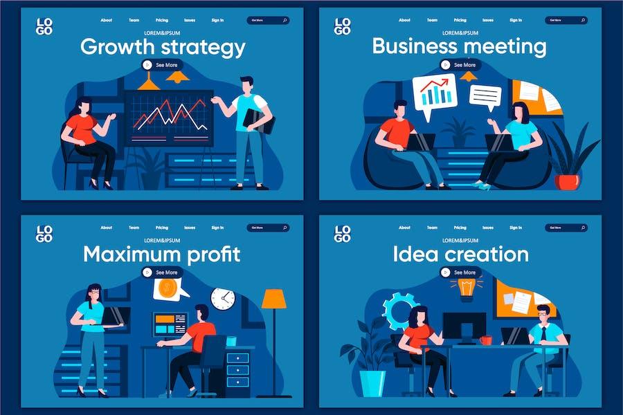 Page d'accueil Concept de réunion professionnelle