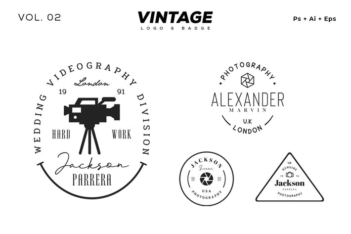 Thumbnail for Vintage-Logo & Badge Vol. 2