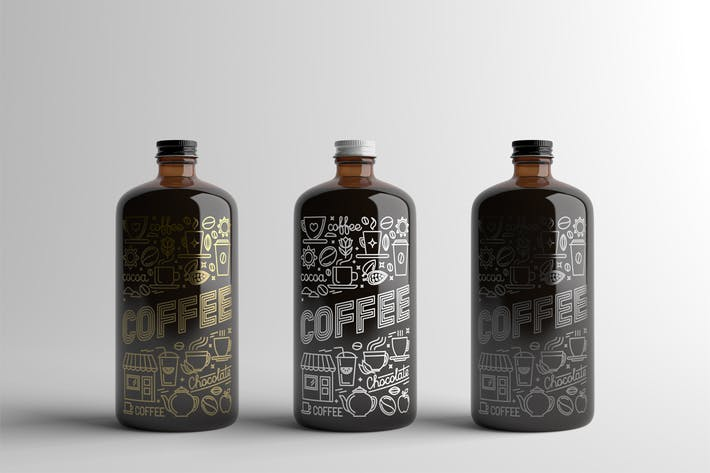 Thumbnail for Coffee Bottle Packaging Mock-Up