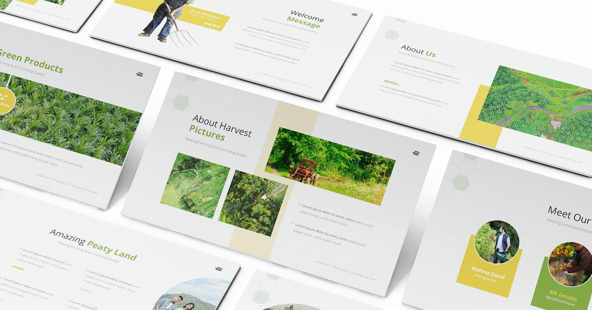 Download Peaty Land Powerpoint Template by Formatika