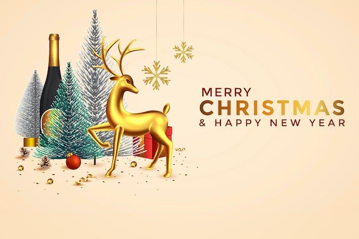 Thumbnail for Рождество и Новый год фон