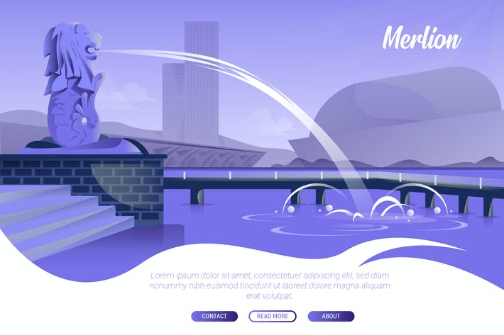 Thumbnail for Merlion - Vector Landscape & Building