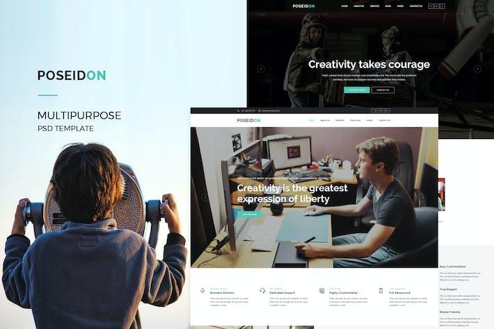 Thumbnail for Poseidon : MultiPurpose PSD Template