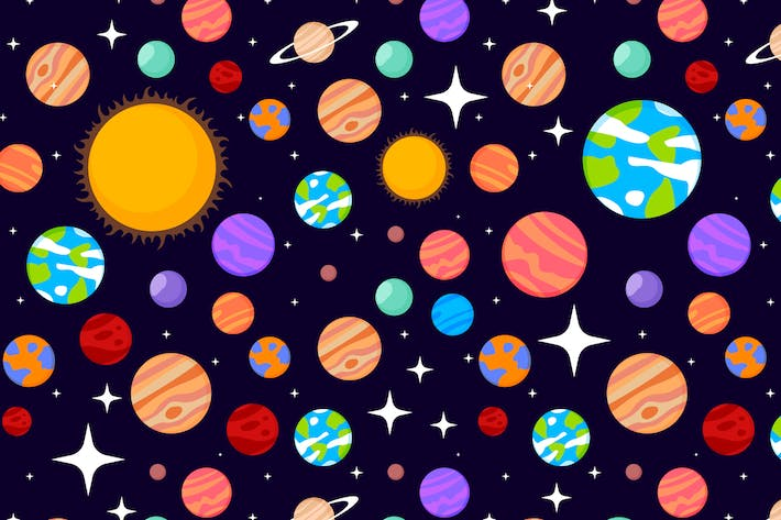 Thumbnail for Solar system patterns set