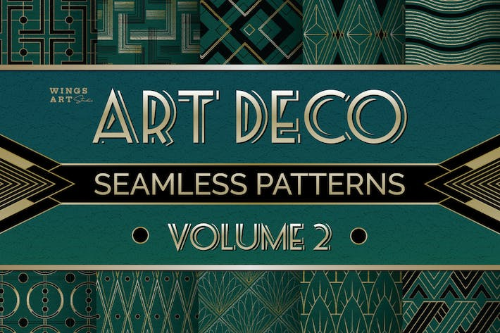 Thumbnail for Art Deco Seamless Patterns Vol 2