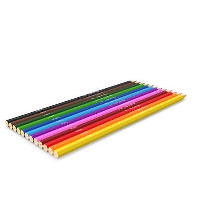 Lápices de colores bajo polietileno