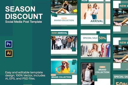 Mode-Vorlage für soziale Medien