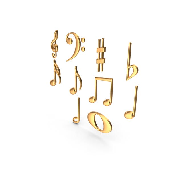Золотые музыкальные ноты