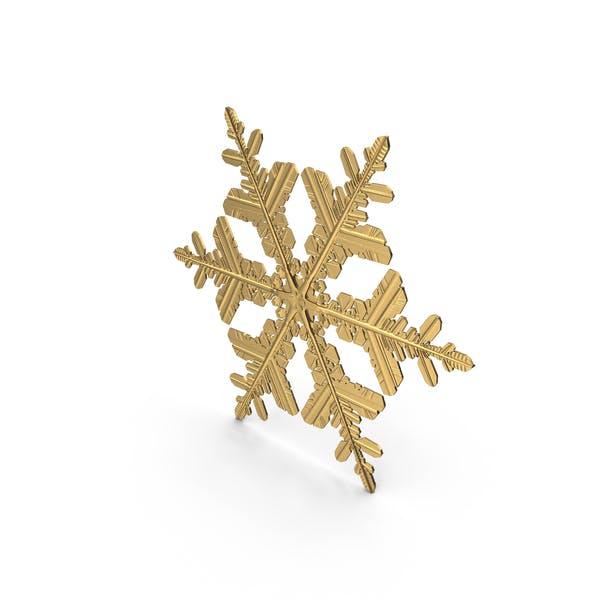 Снежинка Золотой