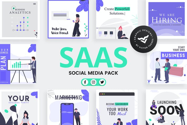 Thumbnail for SAAS Business Social Media Template