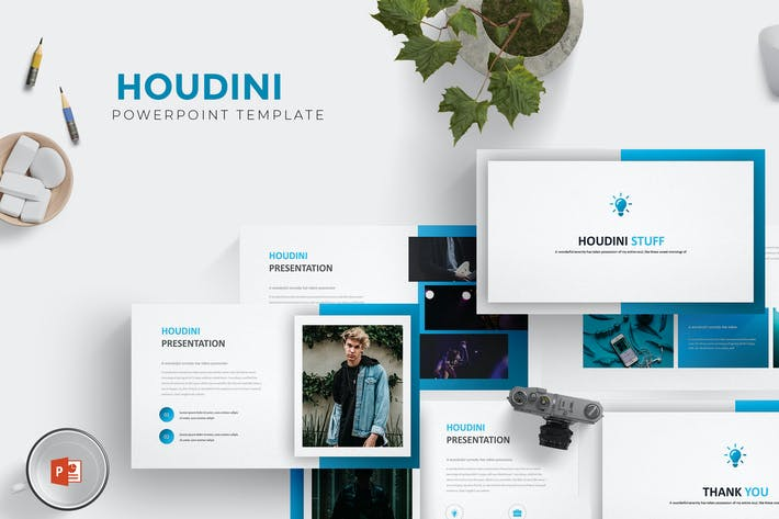 Cover Image For Houdini - Powerpoint Template