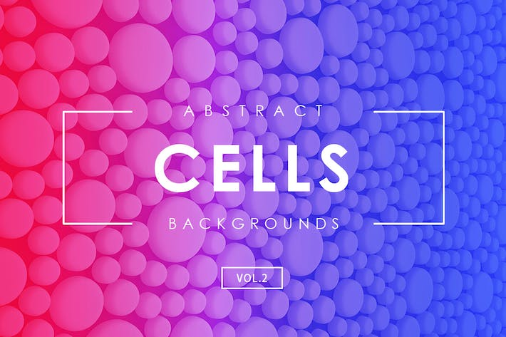 Cover Image For Cells Abstract Backgrounds Vol.2