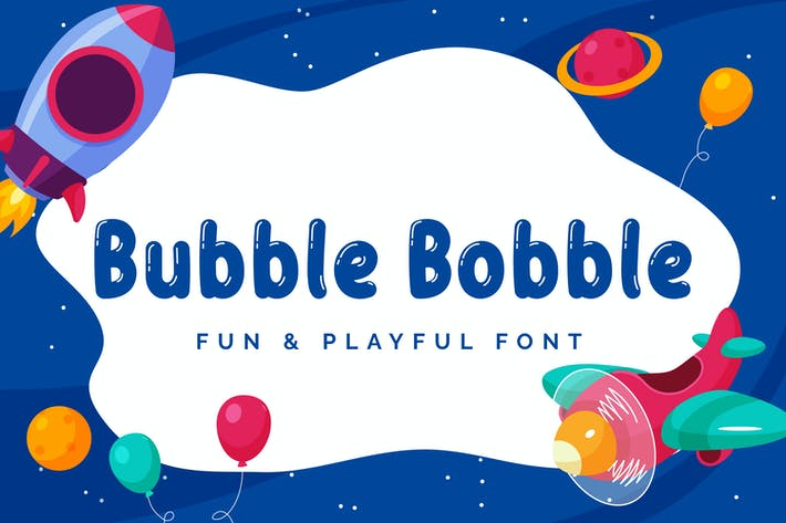 Thumbnail for Bubble Bobble - Playful Font