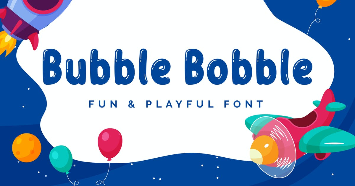 Download Bubble Bobble - Playful Font by aditypotypea