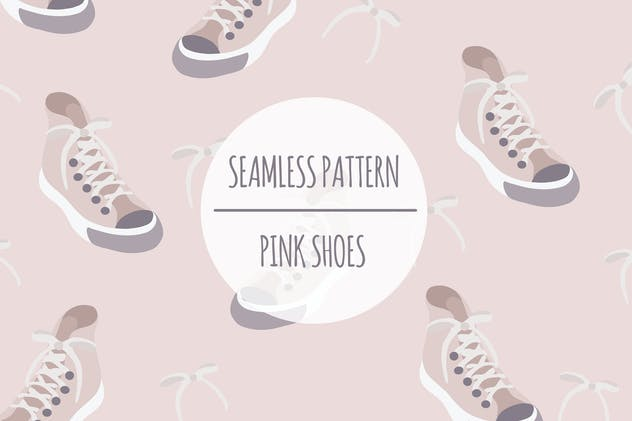 Pink Shoes – Seamless Pattern