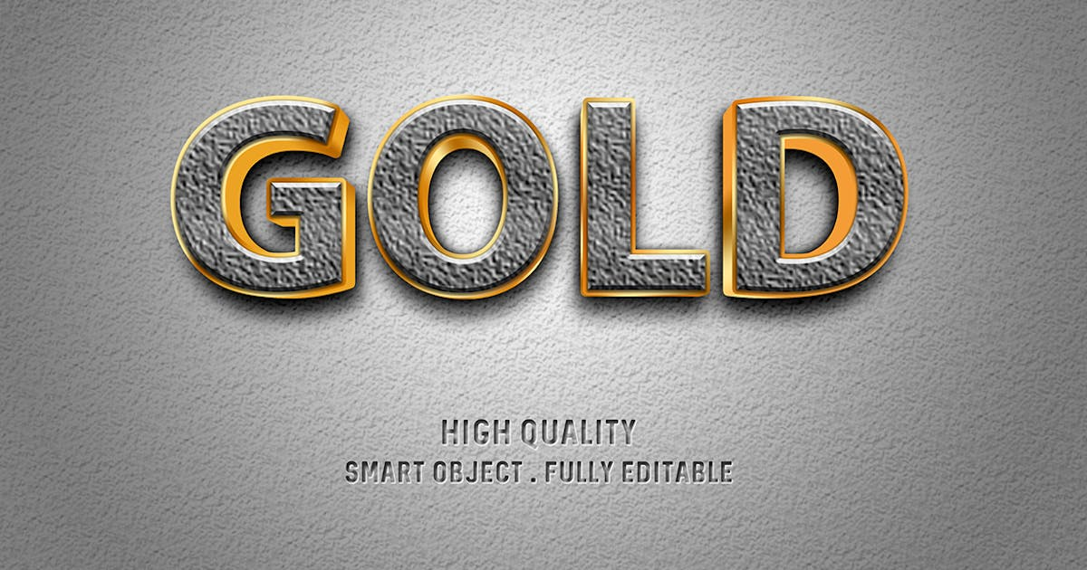 Download Gold on concrete text effect by wudelmbois