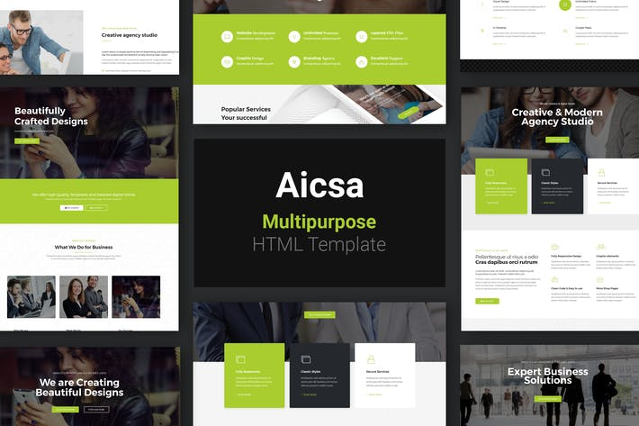 Thumbnail for Aicsa - Multipurpose HTML Template