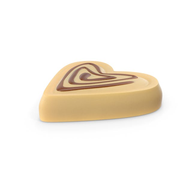Thumbnail for Heart White Chocolate Candy with Caramel Line