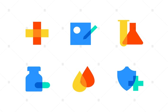Thumbnail for Healthcare and medicine - flat design style icons