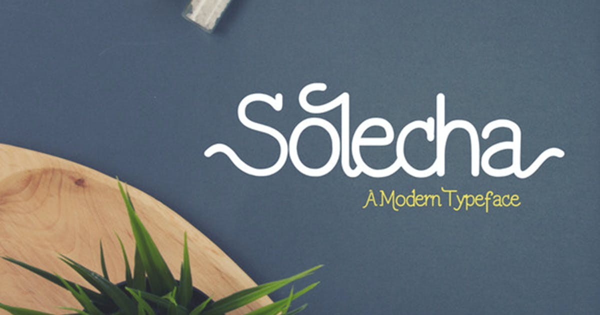 Download Solecha Font by VisualColony