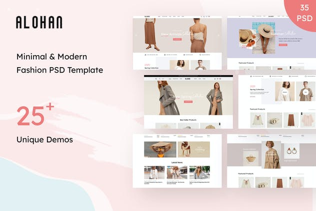 Alohan | Minimalist Fashion PSD Template - product preview 14