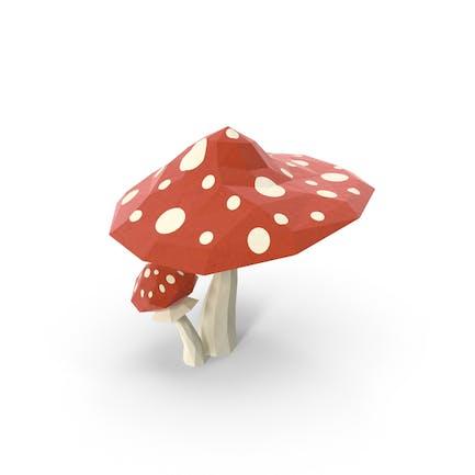 Low Poly Mushrooms