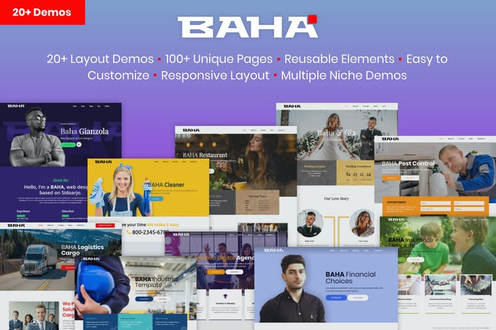 Thumbnail for BAHA - Responsive Multi-Purpose HTML Template