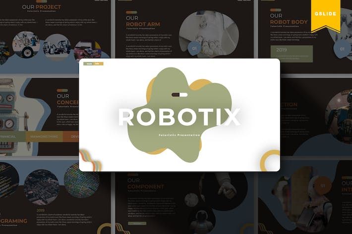 Thumbnail for Robotix | Google Slides Template