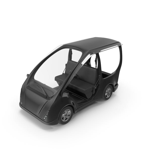 Cover Image for Black Electric Golf Car