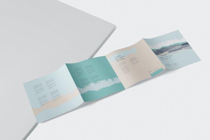 Thumbnail for 4 - Fold Brochure Mockup Set - Square