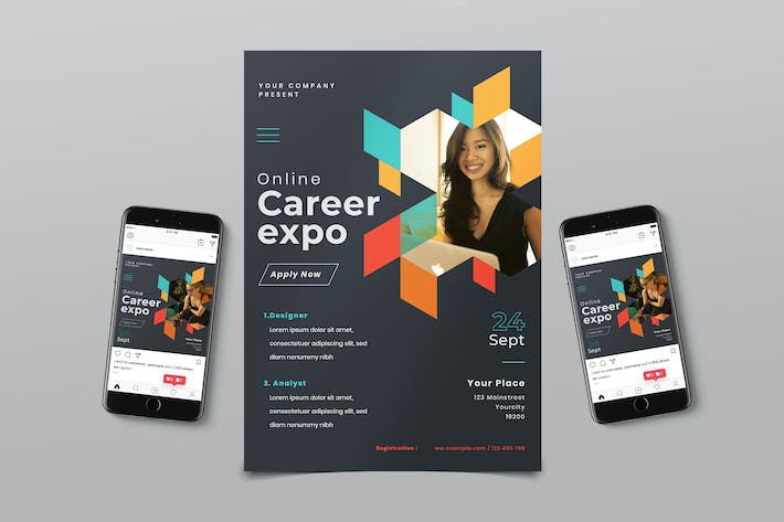 Thumbnail for Online Career Expo Flyer Pack