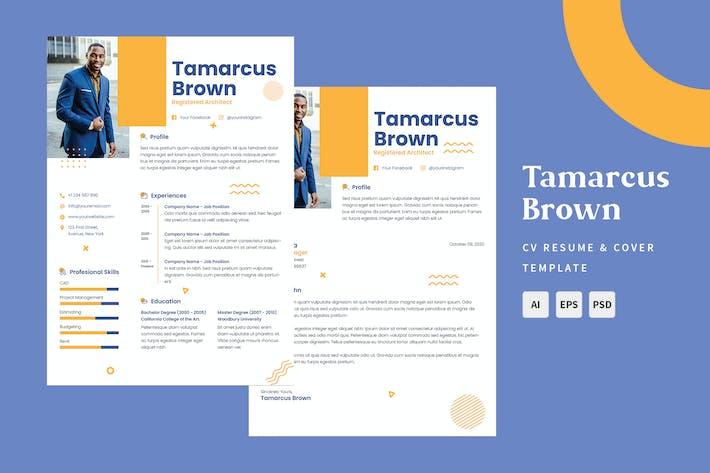 Thumbnail for Tamarcus Brown - CV & Resume Templates